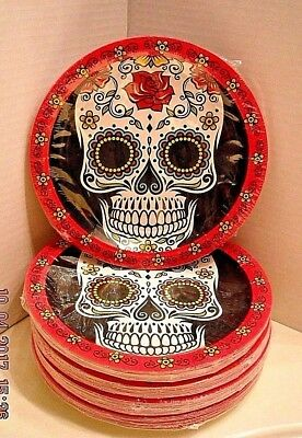 Day Of The Dead 7\  Dinner Plates 18 In Sealed Pack & DAY OF THE Dead 7\