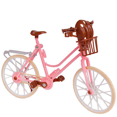 Lady Fashion Pink  Detachable Bike Bicycle Outdoor Accessories For Barbie Doll A
