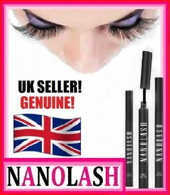 NANOLASH EYELASH SERUM, CONDITIONER, GROWTH*3ml*100% AUTHENTIC*REAL UK STOCK