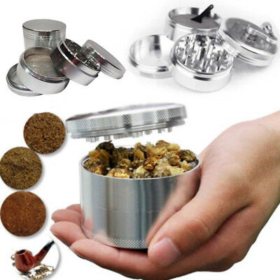 4-Layers Aluminum Alloy Herbal Herb Tobacco Grinder Smoke Grinders Silver 42MM