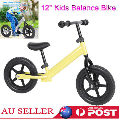 "12"" Kids Balance Bike Gift for 1.5 to 6 Year Girls Boys Scooter Training Bicycle"
