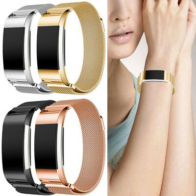 Replacement Magnetic Loop Strap Milanese Wrist Band for Fitbit Charge 2