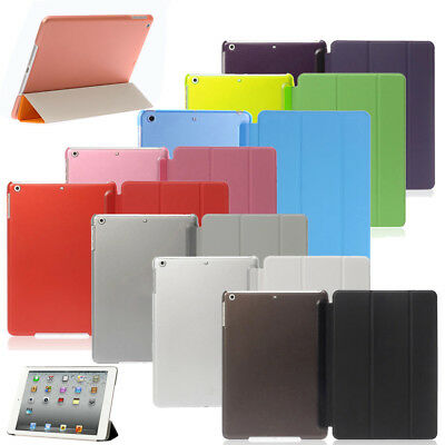 New Ultra Thin Smart Case Slim Back Cover For Apple iPad 2 3 4 5 6 Mini Stand