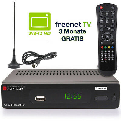 Digitaler DVB-T2 Receiver mit Antenne Freenet TV Empfänger HDMI 1080p Full HD