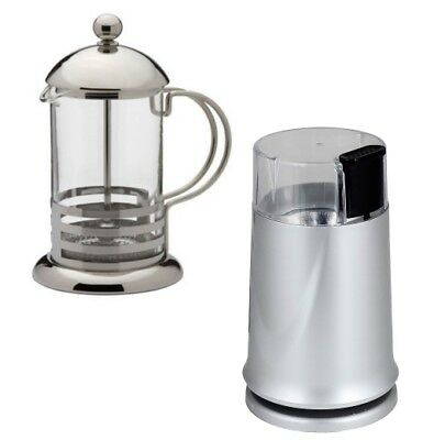 150W Electric Coffee Bean Grinder with 800ml Stainless Steel Glass Cafetiere