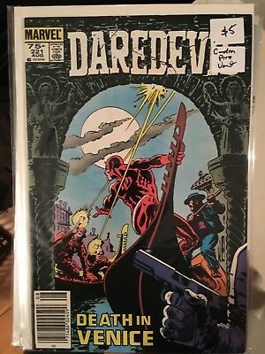 DAREDEVIL #221 VF+ 1st Print CANADIAN PRICE VARIANT Newsstand