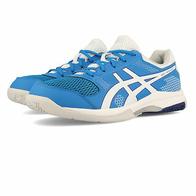 23449b1e562 Asics Mens Gel-Rocket 8 Court Shoes Blue Sports Breathable Lightweight  Trainers