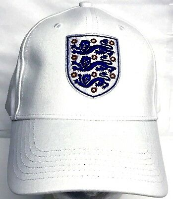 03c576e38bd ENGLAND FOOTBALL CLUB Hat Peak Cap Official 3 lions Gifts - £16.99 ...
