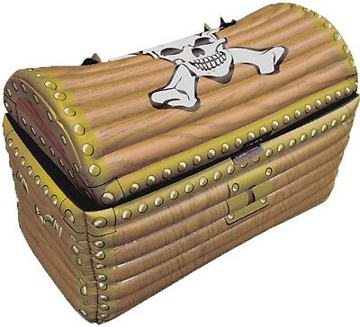 Inflatable Treasure Chest 64 x 33 x 46cm Blow Up Drinks Cooler Piarte Party