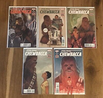 Chewbacca #1-5 Run Complete Set - Marvel Star Wars - NM 1st Print