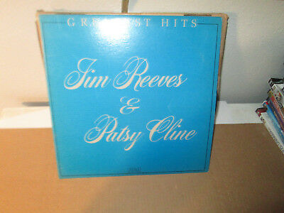 JIM REEVES & PATSY CLINE - GREATEST HITS rare Country Vinyl Lp 1981 Excellent