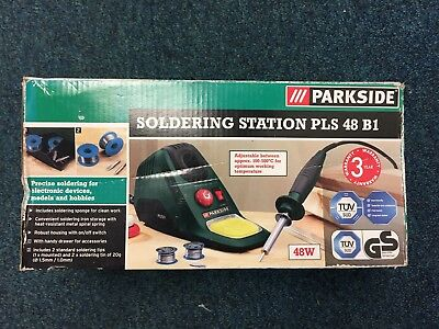 Parkside Compact Soldering Iron Station Boxed
