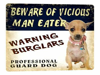 CHIHUAHUA METAL sign great gift vintage style pet dog funny wall decor art 685
