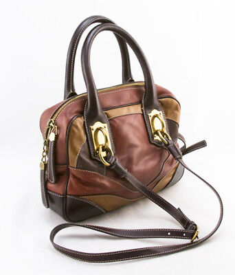 DOLCE   GABBANA Brown and red miss edge small shoulder bag -  875.00 ... 958f63d203ea3