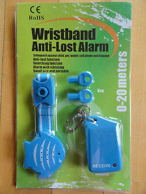 TECH Blue Wrist Band Anti-Lost Alarm, Protecting the Child in Public places