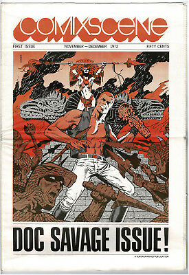 Comixscene #1 November - December 1972 1st issue Doc Savage issue Jim Steranko