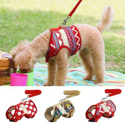 Soft Padded Pet Dog Harness and Leash Adjustable Breathable Vest Jacket Air Free