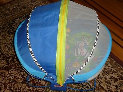 Fisher Price Bounce N Play Activity Dome  Bassinet Screened Bug NET!