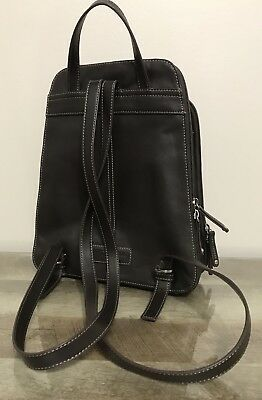 71e33fe93a Vintage Tignanello Backpack Shoulder Bag Purse Black   Brown Leather Vguc