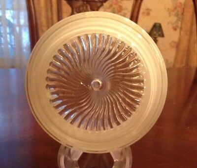 "Antique vintage White Frosted Glass Light Globe Shade 3 1/4"" H X 6 1/4"" Diameter"