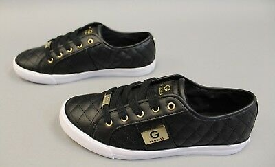 41fd1e909cc98 G BY GUESS Women's Backer Lace-Up Quilted Sneakers Black MM1 Size 8.5M