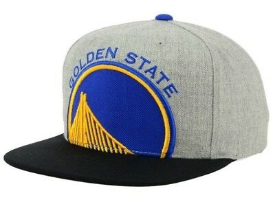 check out cdd03 dc433 Mitchell   Ness Golden State Warriors Cropped XL Logo Snapback Hat Cap Gray  NBA