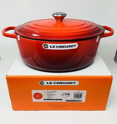 NIB Le Creuset Signature Cast Iron 8 qt Oval French (Dutch) Oven, Cherry Red