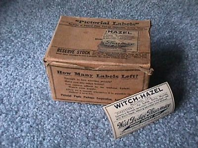 WITCH-HAZEL Labels Partial Boxful WEST DODGE PHARMACY 40th Dodge Sts. OMAHA, NE