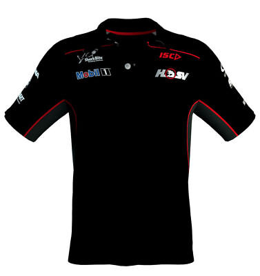 Mobil 1 Hsv Racing Team Mens Black Performance Polo Size S Only Supercars