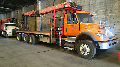 INT'L Custom Tree Service PACKAGE- Crane Truck with Dump Bed and GRAPPLE SAW