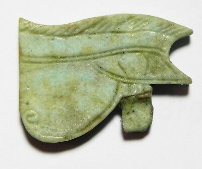 ZURQIEH -as5684- ANCIENT EGYPT, NICE EYE OF HORUS AMULET  . 600 - 300 B.C