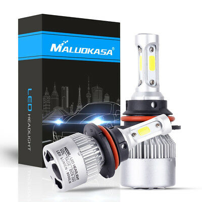 Maluokasa 9004 HB1 High/Low Beam LED 72W Car LED Headlight Bulbs 6500K White Car