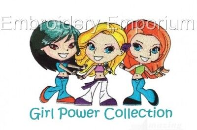 Girl Power Collection - Machine Embroidery Designs On Cd