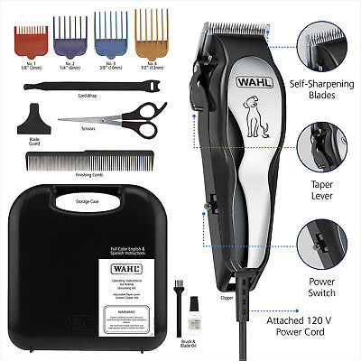 Pet Professional Thick Hair Complete Set Heavy Duty Dog Grooming Clipper Kit