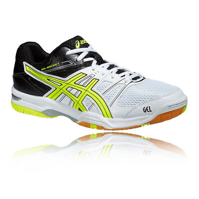 Asics Gel-Rocket 7 Mens Yellow Black Indoor Court Sports Shoes Trainers Pumps