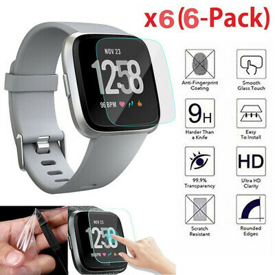 Premium Tempered Glass Screen Protector Guard for Fitbit Versa Smart Watch 1/6PC