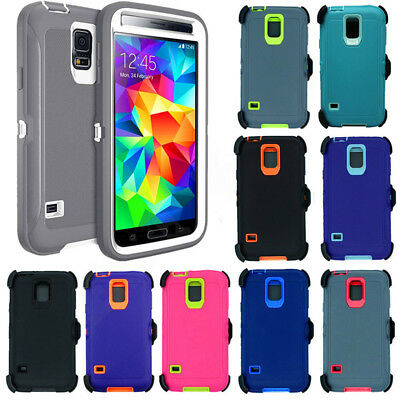 For Samsung Galaxy S5 Case with Screen (Belt Clip fit Otterbox Defender Series)