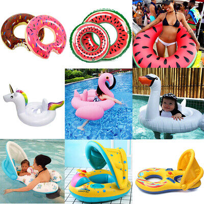Adjustable Inflatable Sunshade Baby Kid Float Seat Boat Swim Pool Ring Wheel Toy