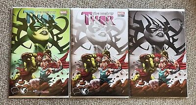 The Mighty Thor #700 Brain Trust / Unknown Comics Greg Land Variant Set
