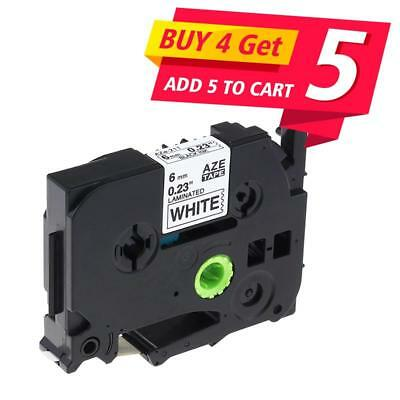 TZ TZe211 Label Tape Compatible for Brother P-touch Label Maker Black on White