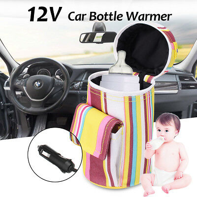 12V 20W Portable Car Baby Bottle Warmer 40℃ Milk Drink Heater Travel Kid Feeding