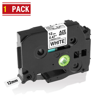 TZ TZe231 Label Tape Compatible Brother P-touch Label Maker 12mm Black on White