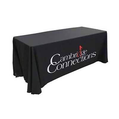 Personalised 6ft Table covers branded, custom designed. Prof Counter Display
