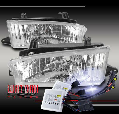 For 97 98 99 Subaru Legacy Outback Crystal Headlight Lamp Chrome W/10K Xenon Hid