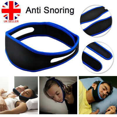 New Snore Stop Belt Anti Snoring Cpap Chin Strap Sleep Apnea Jaw Support UK L4U