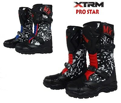 Stivali Motocross Bambino Off Road XTRM PRO STAR MX Quad Cross Sportivi Stivale