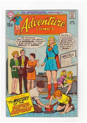 Adventure Comics # 396 Mystery of the Super-Orphan ! grade 4.5 scarce book !!
