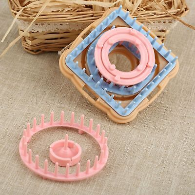 9pcs Knitting Loom Flower Daisy Pattern Maker Wool Yarn Needle Knit