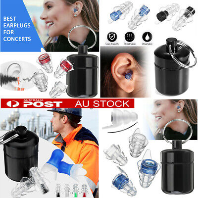 AU 21db Ear Plugs Noise Reductor Hearing Protector Concert Study Sleep Shooting