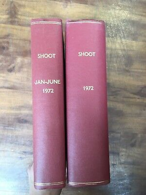 Shoot Magazine Bound Volume 1972 complete year. Football.